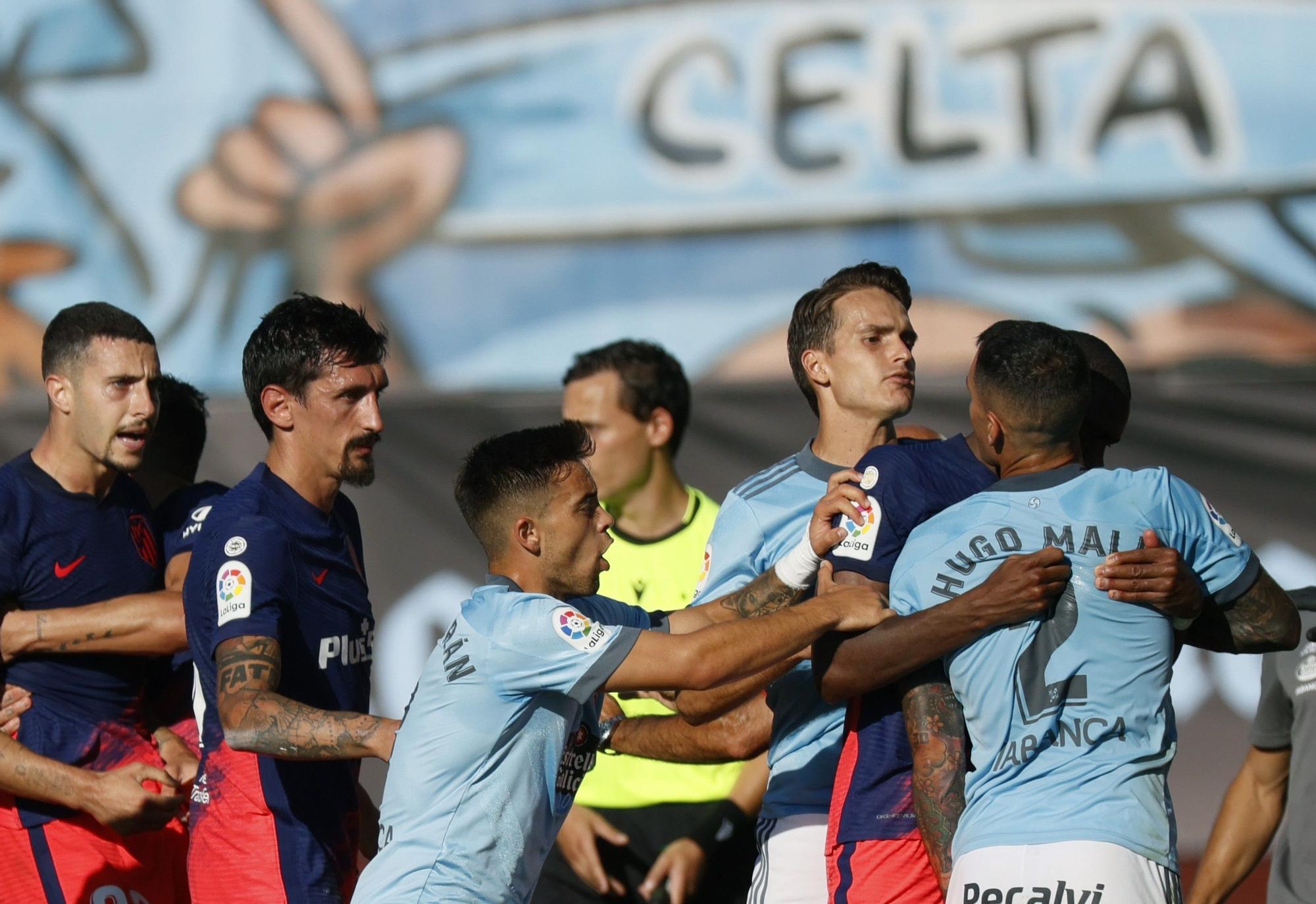 El Celta-Atlético, en imágenes