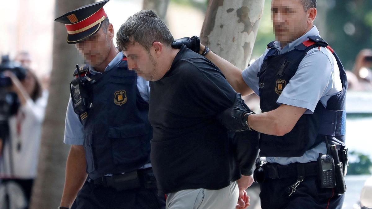 El condenado por el crimen, tras su detención en 2018.