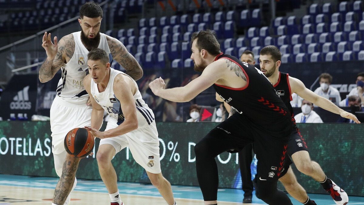 Una imagen del Real Madrid - RETAbet Bilbao Basket.