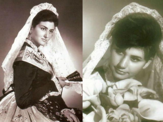 Las hermanas Mari Sol Ribelles Mazón (Hernán Cortés) y Genoveva Ribelles Mazón (Rambla de Méndez Núñez) ostentaron el cargo de Bellea del Foc de forma consecutiva, en los años 1961 y 1962.