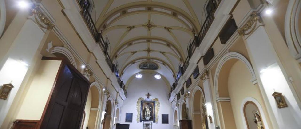 Interior del convento de Santa Clara, en una visita realizada hace dos años.   PERALES IBORRA
