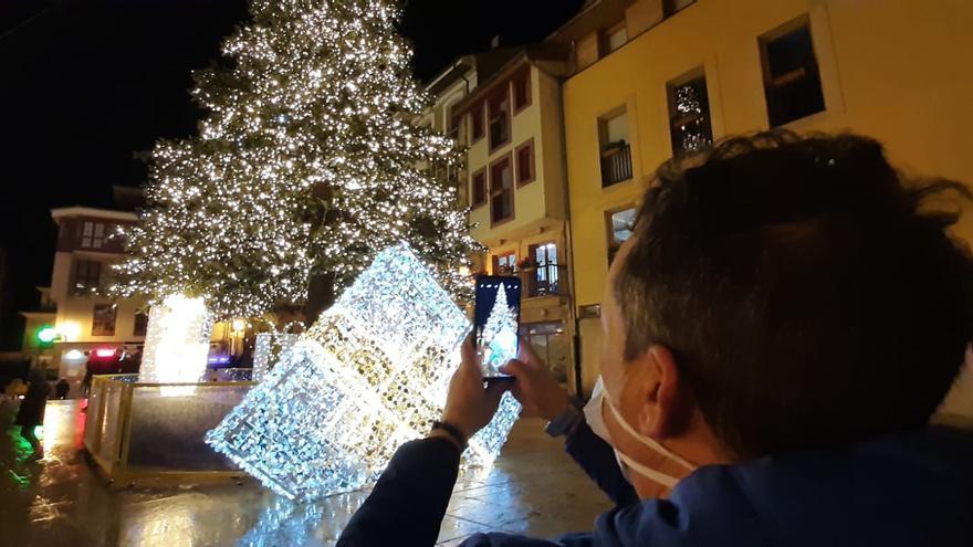 Así es la iluminación navideña de Oviedo