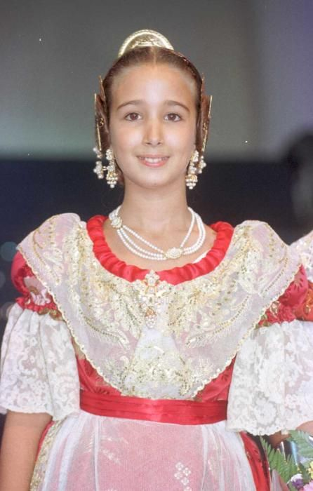 Corte 1999. María Marcos fue elegida en la corte infantil y repitió en la mayor de 2014.