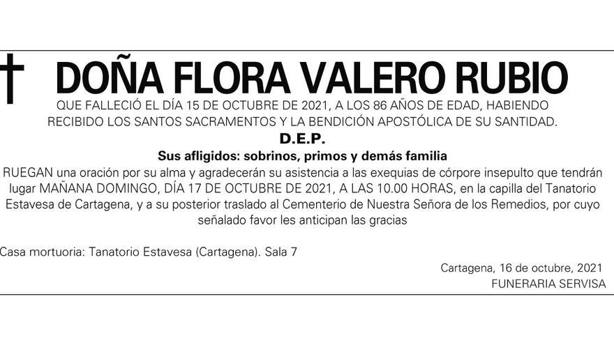 Dª Flora Valero Rubio