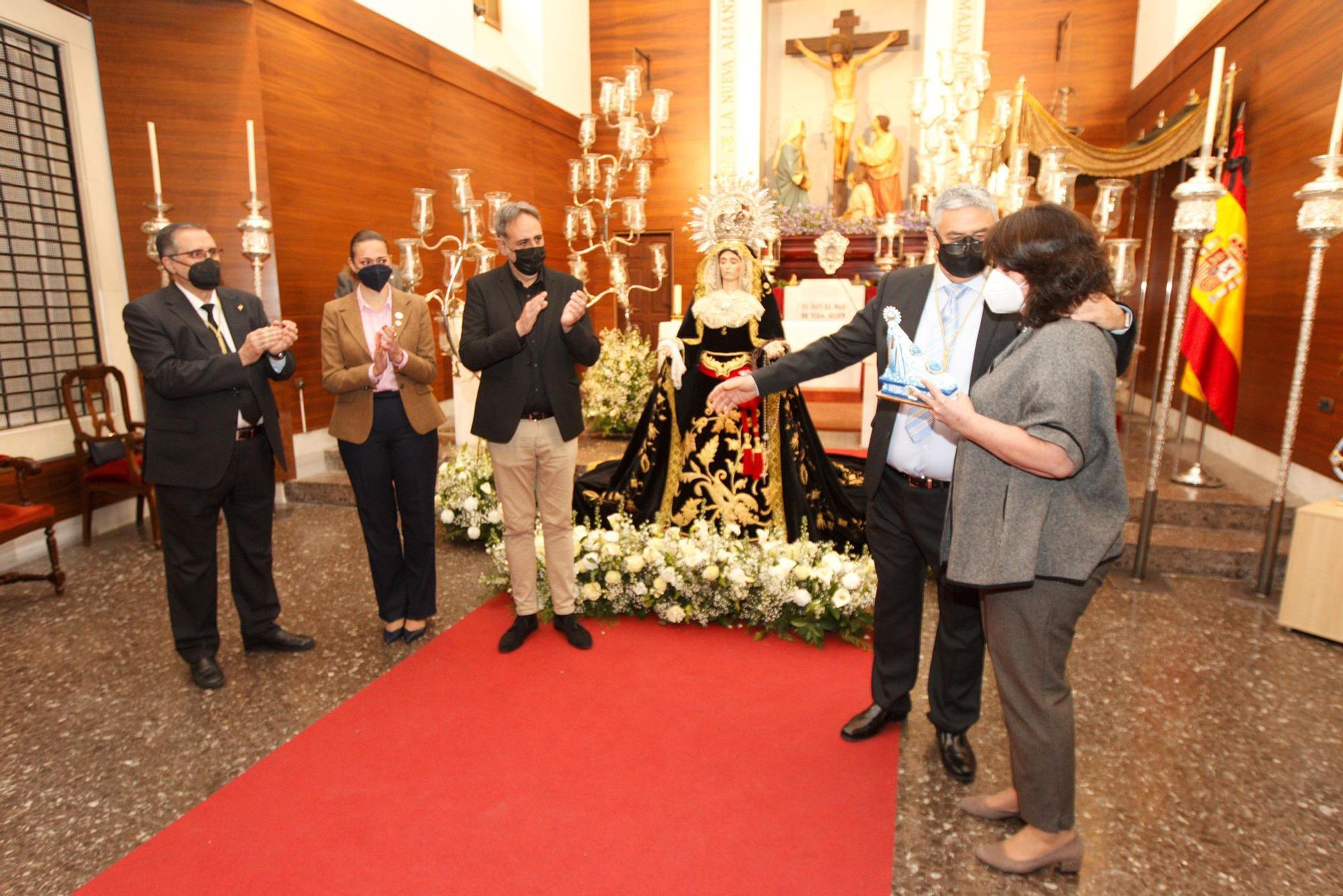 Bendición de la réplica de la Virgen de la Alegría
