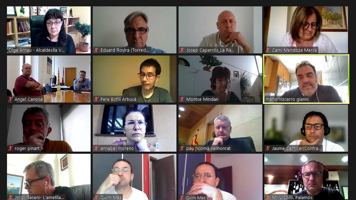 Trobada virtual de representants locals de municipis portuaris