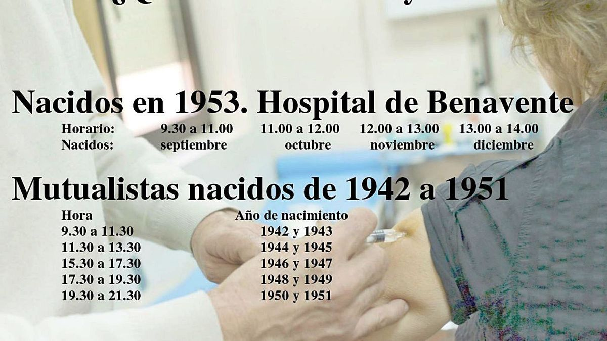 Vacunaciones previstas para la jornada de hoy, últimas de la semana