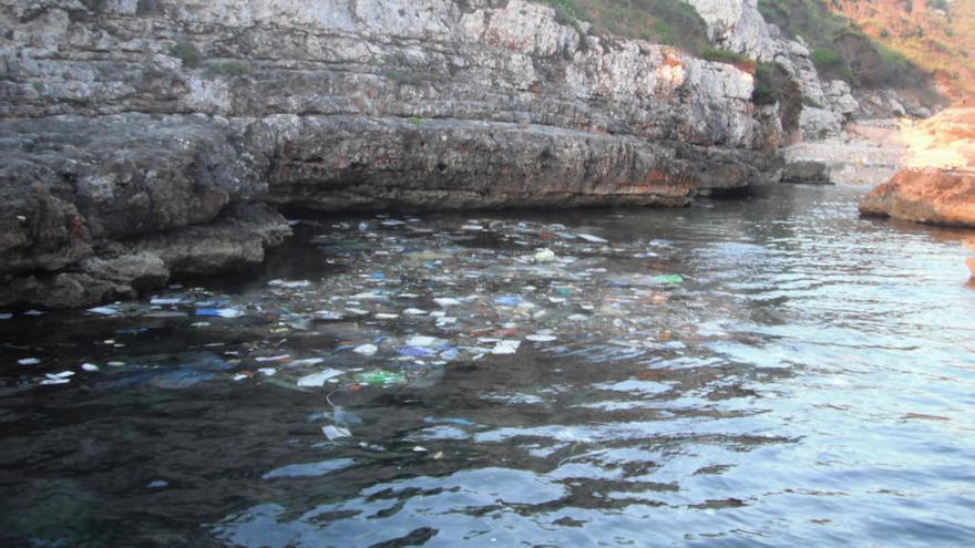 Casi la mitad de los residuos recogidos en Baleares este verano del mar eran plásticos