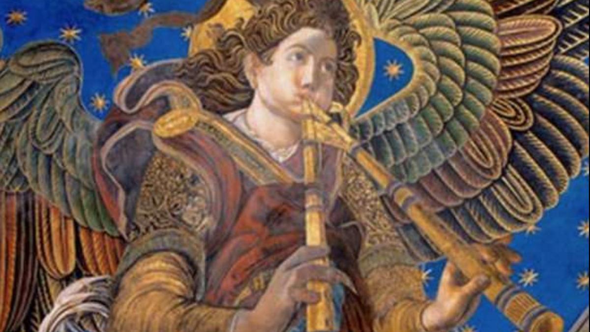 Uno de los ángeles músicos de la Catedral de Valencia