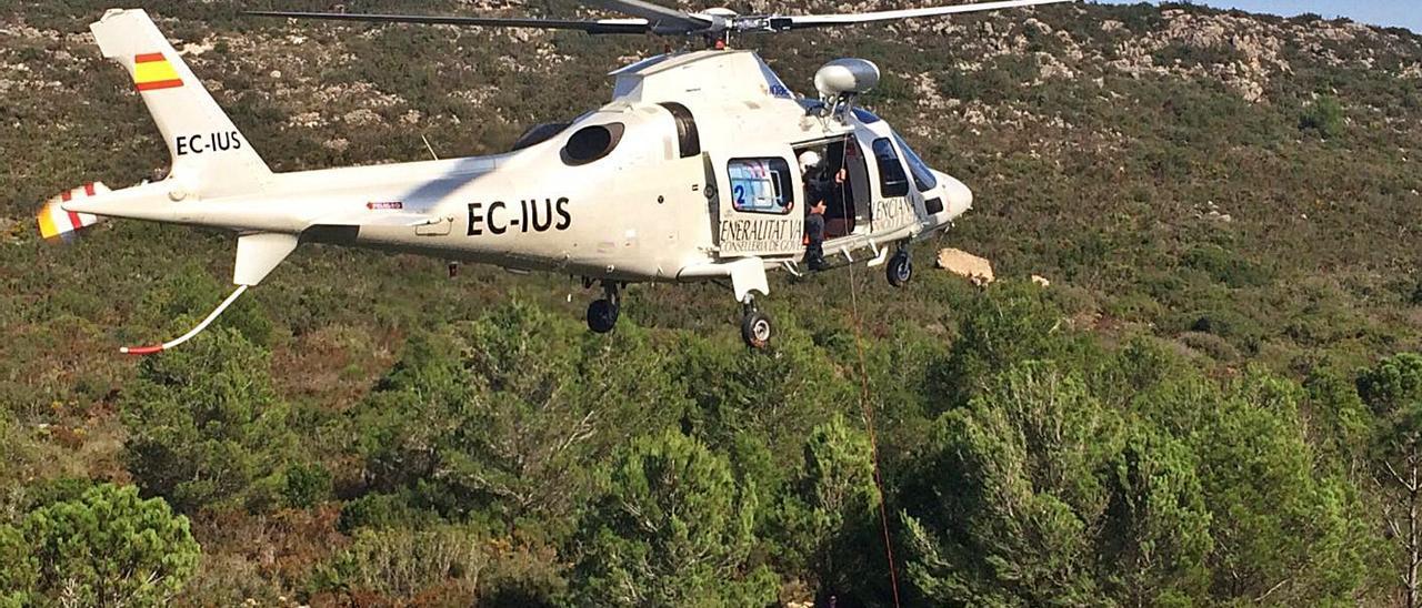 Un rescate en el Paraje Natural Municipal Murta-Casella, en una imagen de archivo. | LEVANTE-EMV