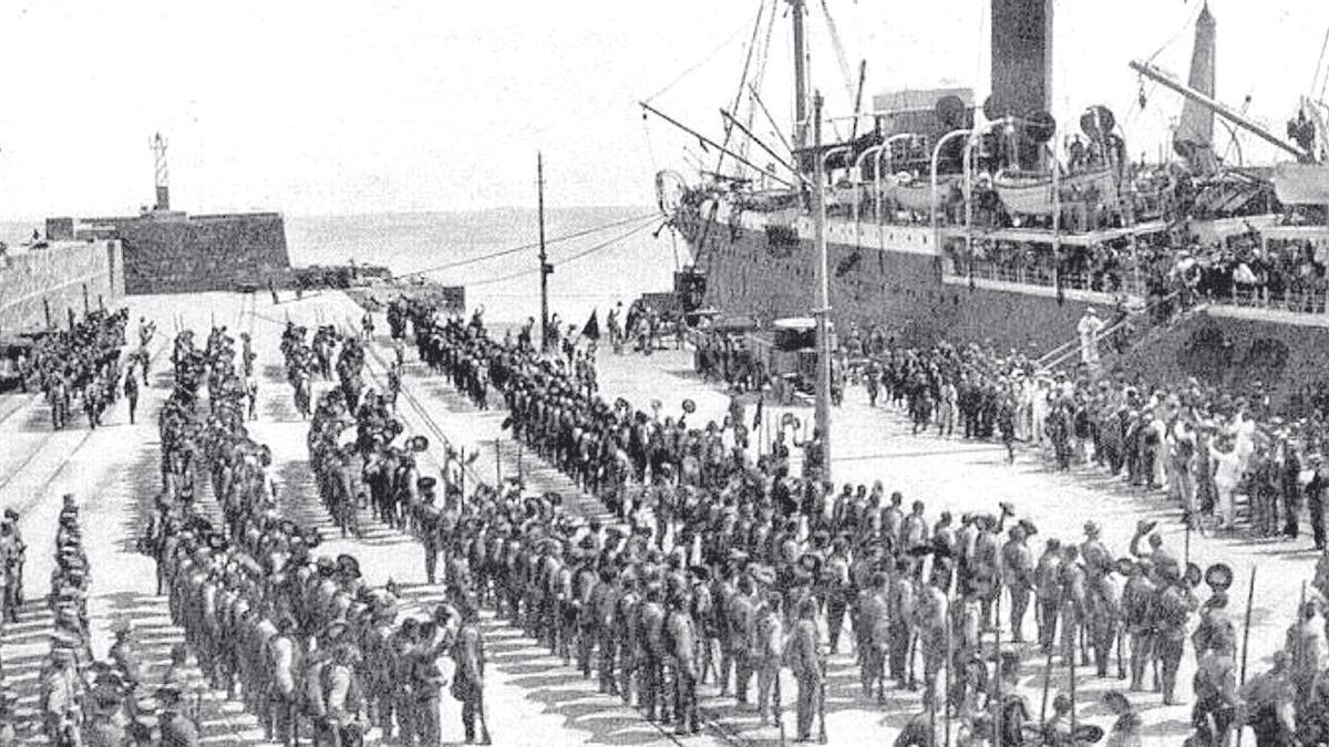 Desembarco de la Legión en Melilla el 24 de julio de 1921