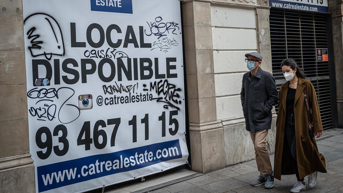 Un local cerrado en Barcelona.