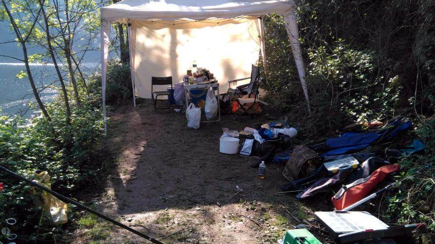 Denunciats per acampar, fer foc i pescar al pantà de Susqueda en ple estat d'alarma