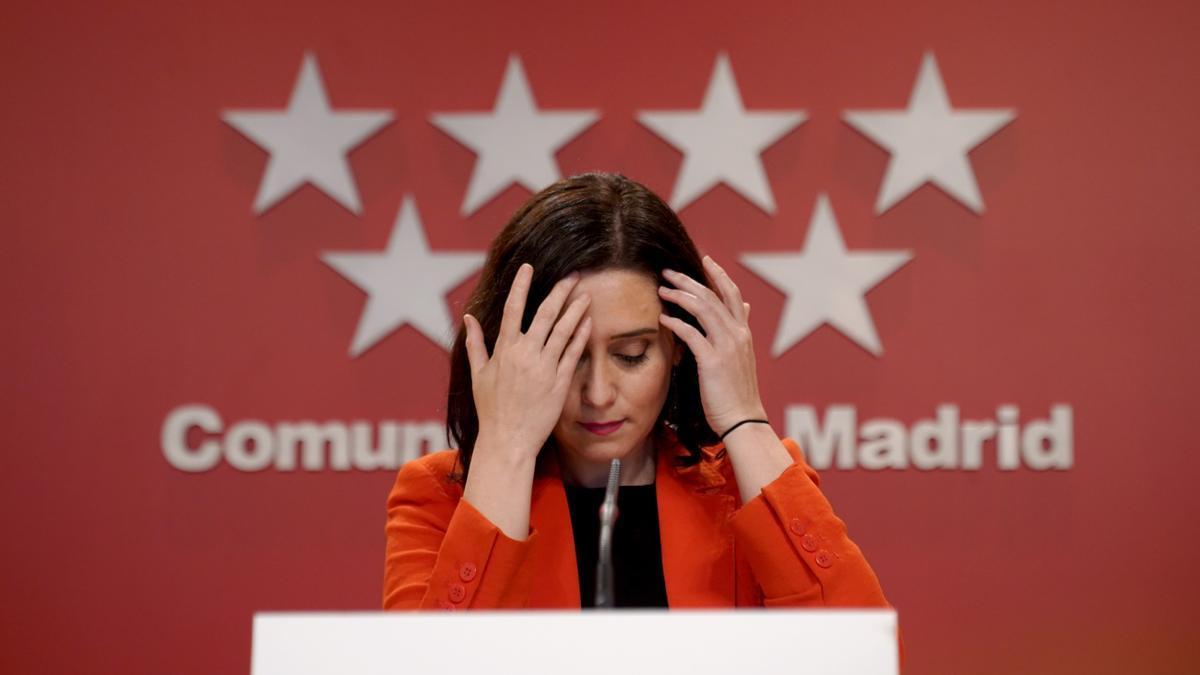 Isabel Díaz Ayuso, en una comparecencia reciente