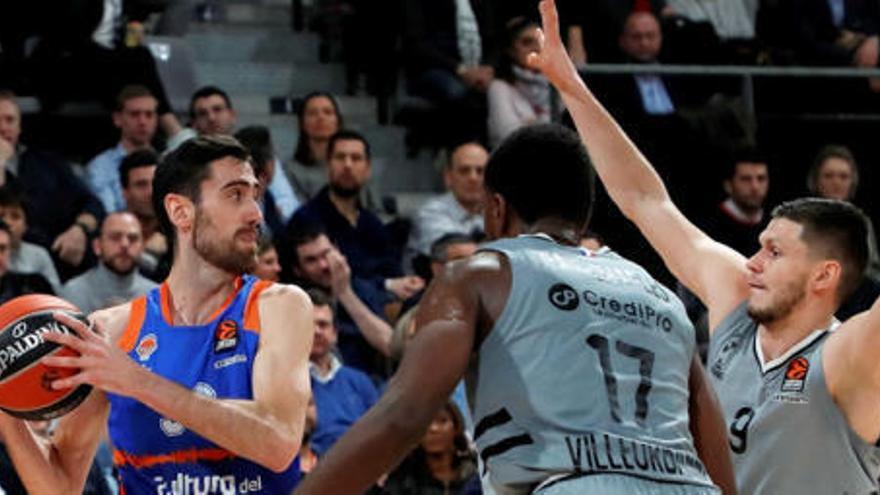 El Valencia Basket pierde en Francia y se complica el Top 8