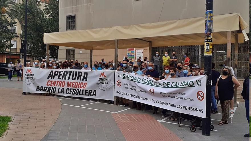 Protesta para reclamar mejor atención sanitaria