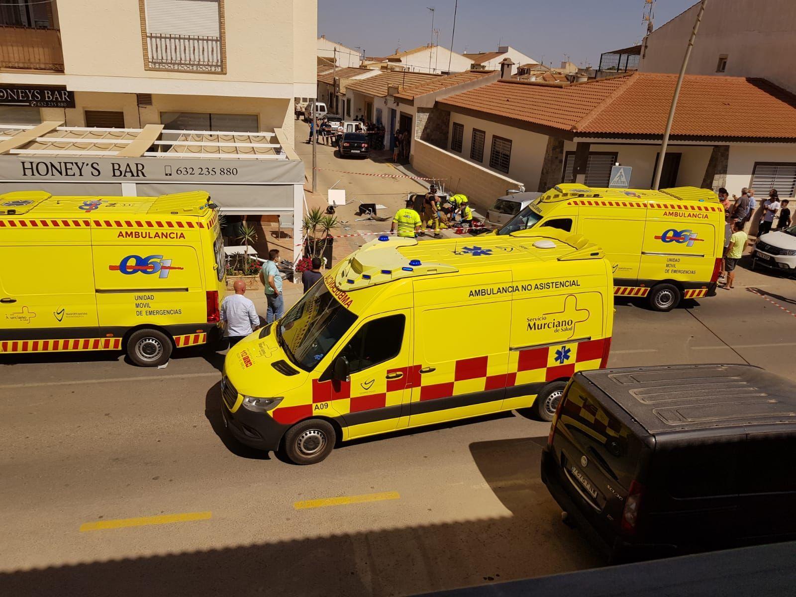 Las imágenes del atropello en Torre Pacheco que ha dejado dos muertos y varios heridos