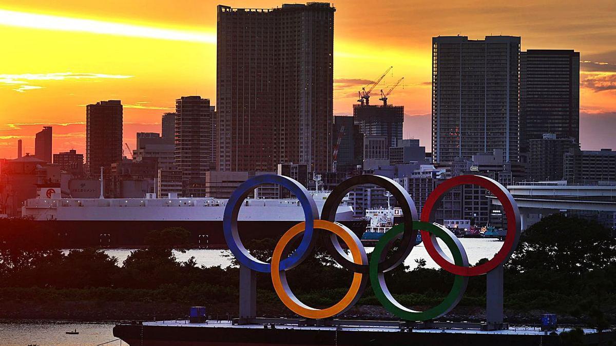 Els anells olímpics a Tòquio