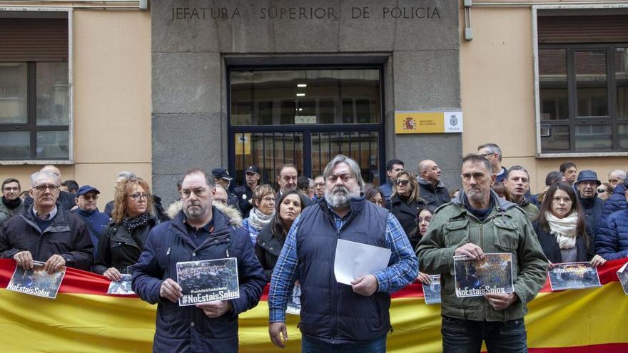 Policías de Castilla y León respaldan a los agentes enviados a Cataluña