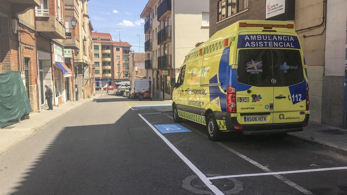 Una ambulancia del 112 en Benavente.