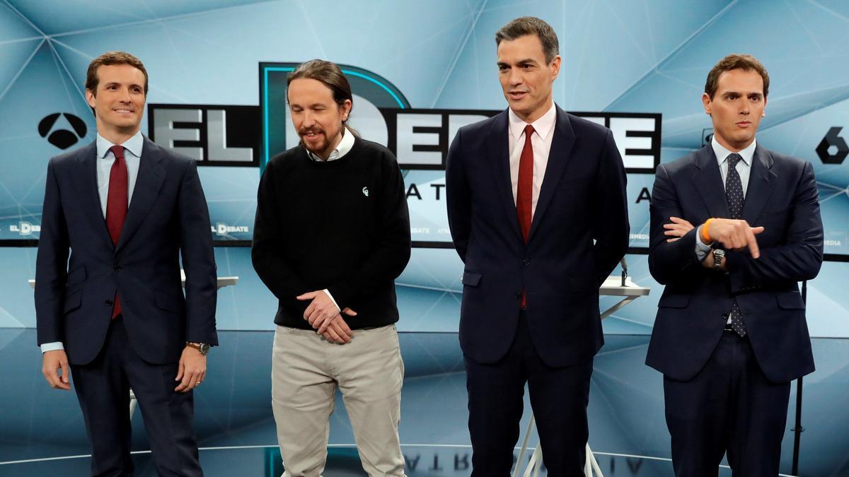 Debate electoral sin Vox en 2019.