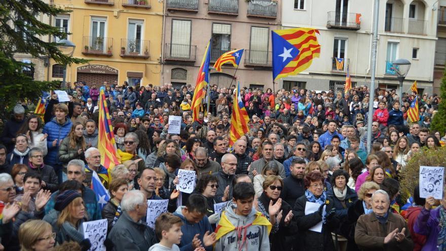Berga surt al carrer per reclamar la  «llibertat dels presos polítics»