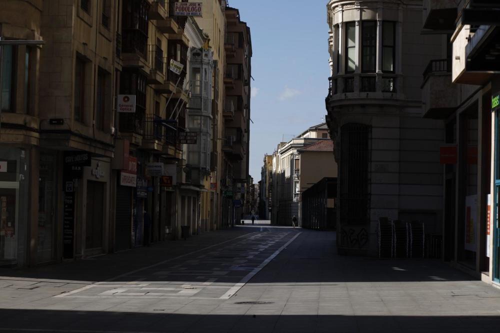 Así están las calles de Zamora tras la cuarentena