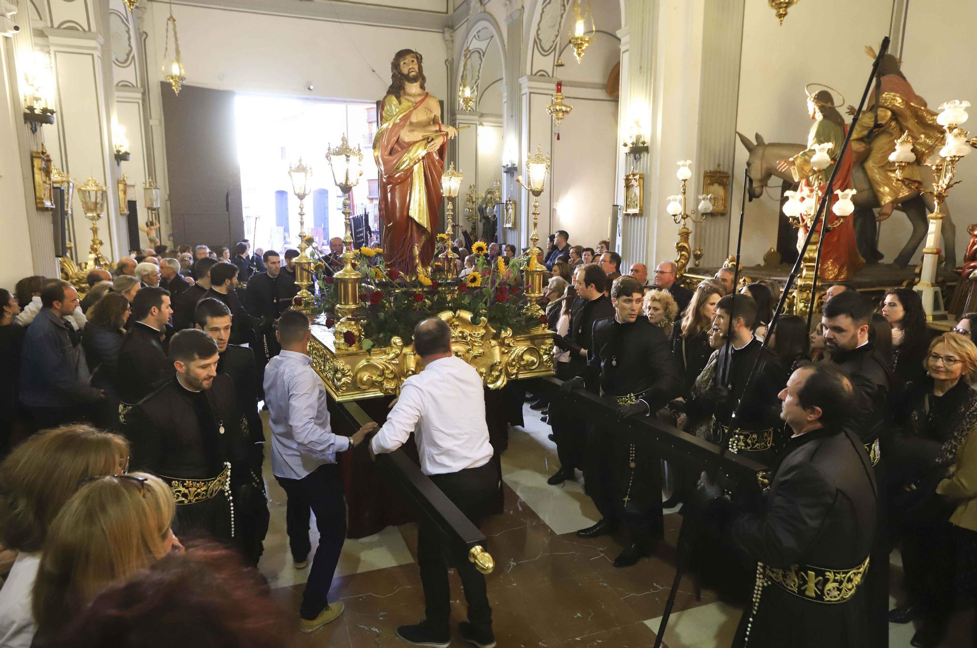 Así fue la última imposición de medallas, en la Semana Santa de Sagunt.