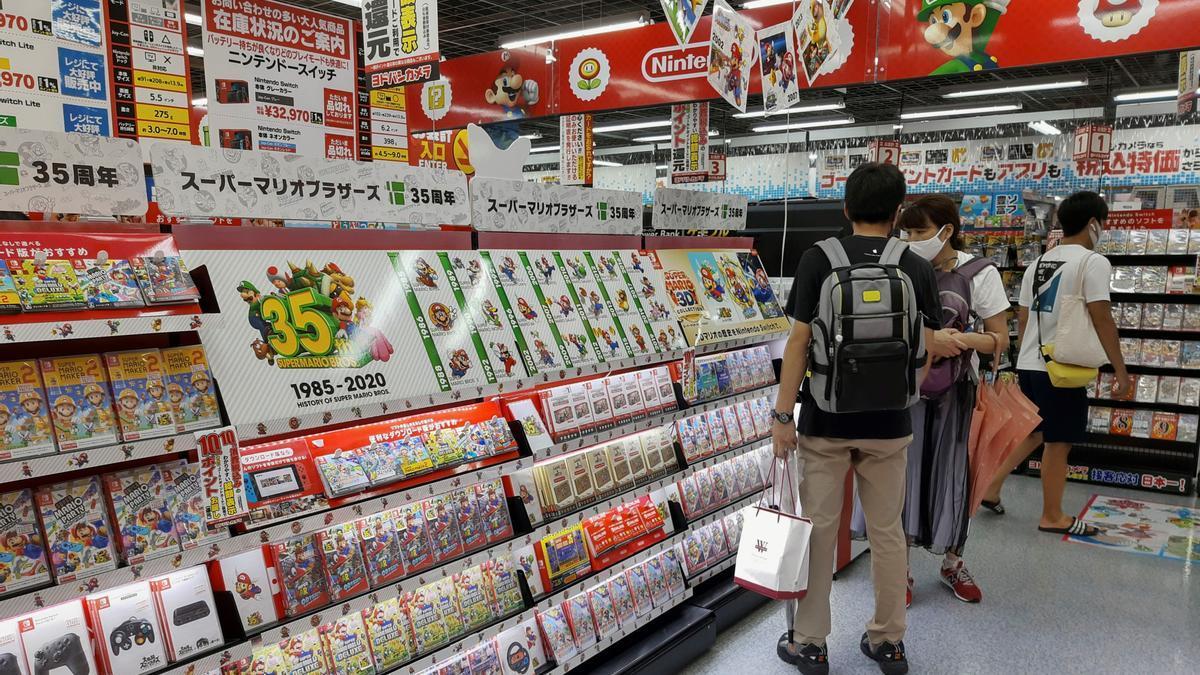 Tienda de videojuegos en Japón.