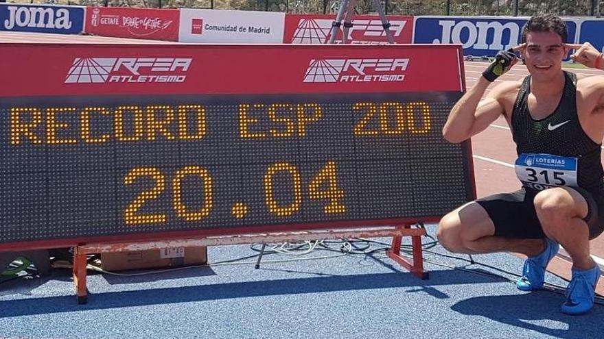 Hortelano bate su récord de España en los 200 metros