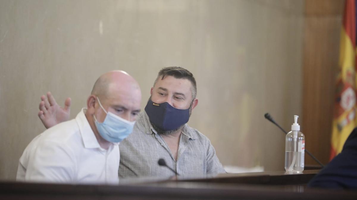 Los acusados durante la lectura del veredicto