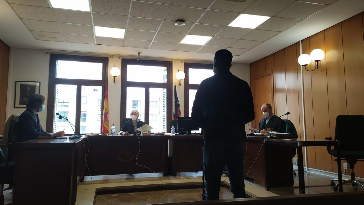 El acusado, hoy durante el juicio