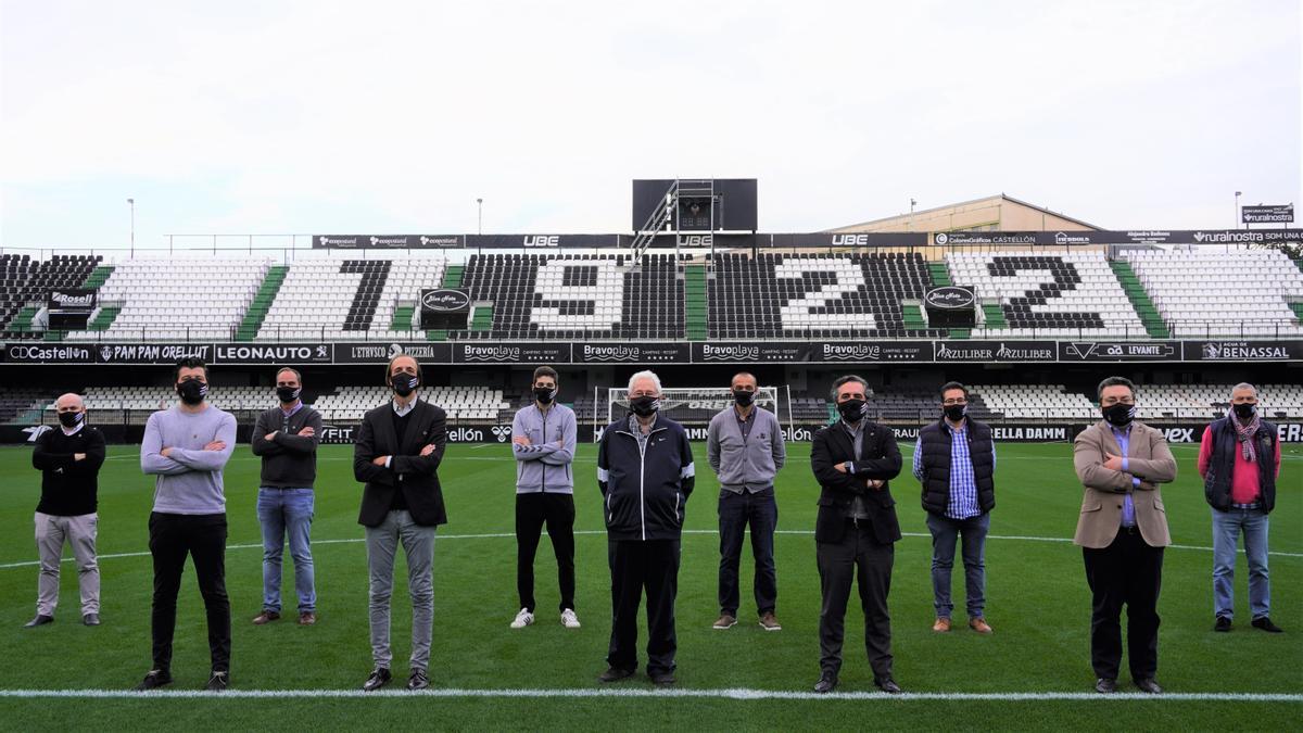 Los responsables de la comisión delegada del centenario del CD Castellón.