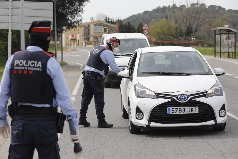 Controls i sancions a les poblacions gironines
