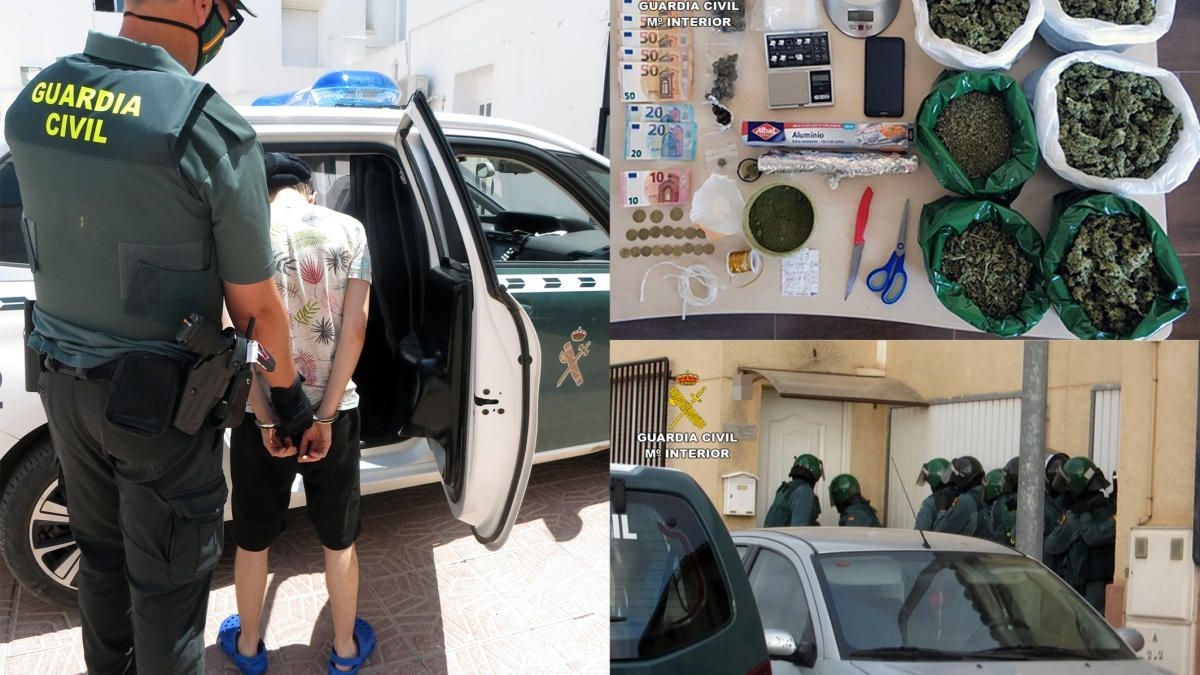 Desarticulado un punto de venta de droga en el centro de Totana