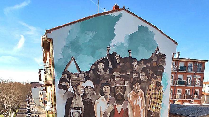 El mural y la manifestación de San José Obrero