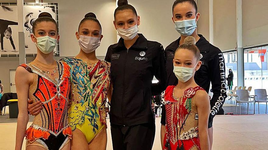 Las gimnastas del Almara de Burjassot quedan segundas en la Liga Iberdrola