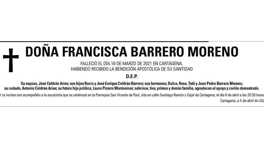 Dª Francisca Barrero Moreno