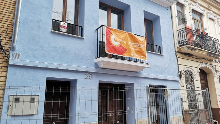 Una bandera azul en la zona cero