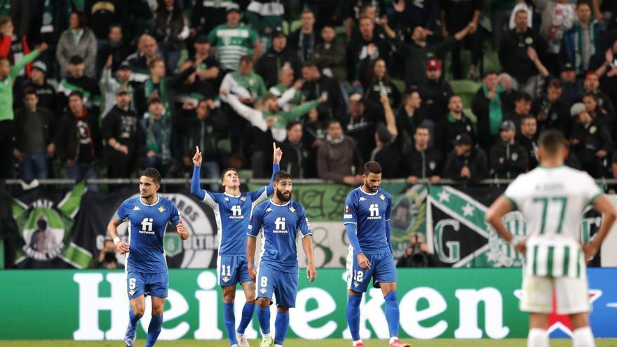 El Betis demuestra su poderío en Europa ganando a domicilio al Ferencvaros