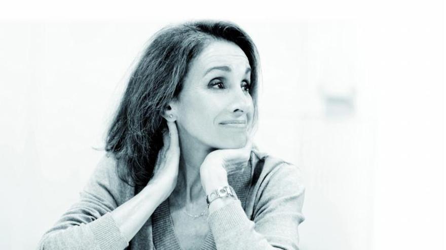 Ana Belen durante una de las lecturas  del guion.  javier naval