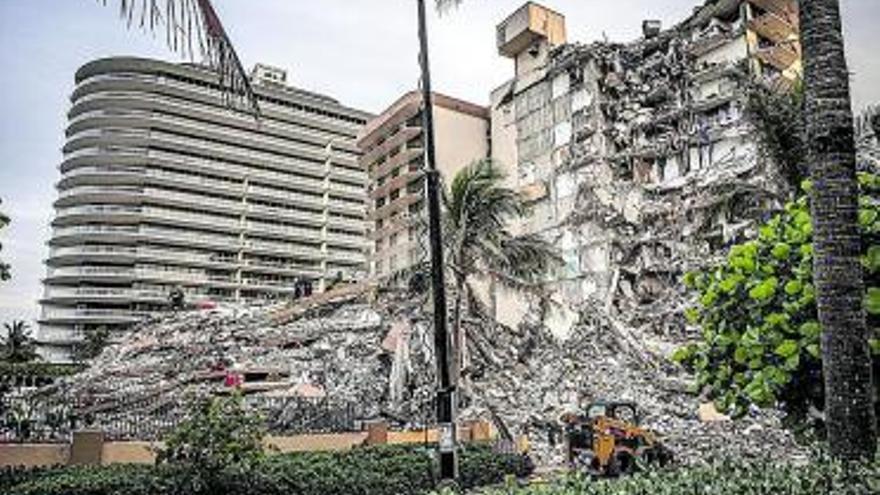 Un enginyer va avisar fa tres anys de danys estructurals  a l'edifici ensorrat a Florida
