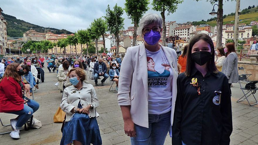 "La pregonera del Carmen propone a las enfermeras tener ""carácter cangués"" para ganar visibilidad"