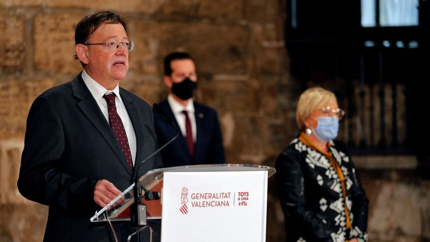 Ximo Puig, president de la Generalitat, y Ana Barceló, consellera de Sanidad.