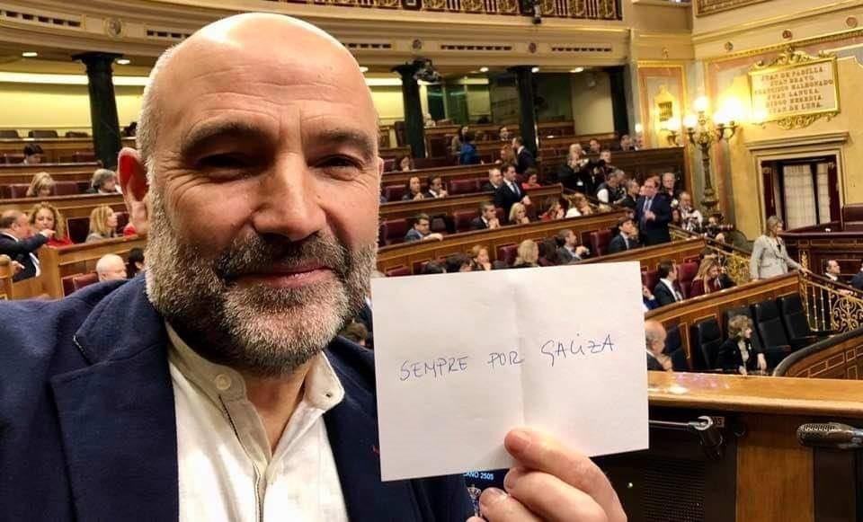 El diputado del BNG en el Congreso, Néstor ...