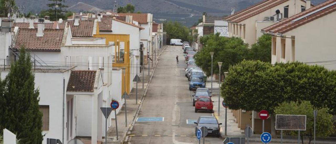 Las tranquilas calles de Beneixida durante la semana pasada. | PERALES IBORRA