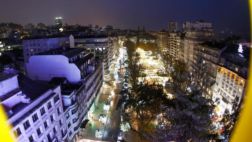 Navidad en Vigo 2019 | Así se ve la ciudad desde 54 metros