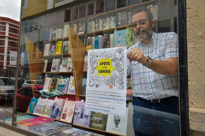 04-05-2020 LAS PALMAS DE GRAN CANARIA. Librería Canaima. Fotógrafo: Andrés Cruz  | 04/05/2020 | Fotógrafo: Andrés Cruz