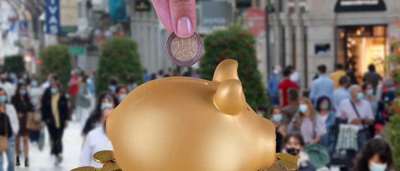 El récord de ahorro por la pandemia en Galicia supera ya todo el desplome del PIB