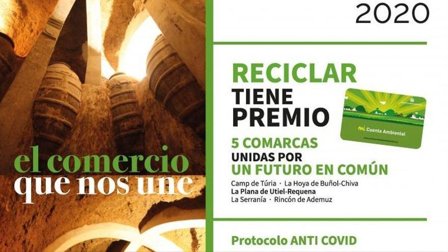 El Consorcio València Interior reparte vales de descuento a los utielanos que hayan reciclado en ecoparques